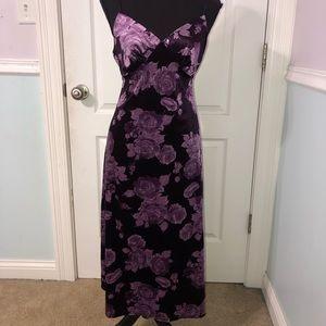 Purple vintage velvet dress